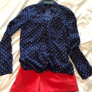 Express Portafino long sleeve blouse